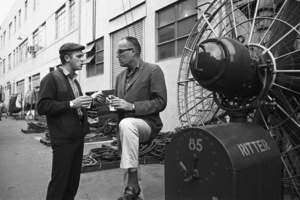 Steve McQueen and director John Sturges on the Goldwyn Studio lot in Hollywood1960© 1978 Sid Avery - Image 0019_1012