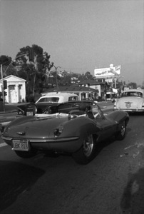 Steve McQueen in his 1957 Jaguar XK SS 1960 © 1978 Sid Avery - Image 0019_1015