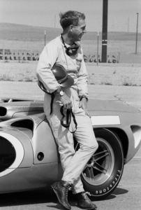 Steve McQueen and his Lola T70 at Riverside Raceway in Riverside, California 1966 © 1978 Chester Maydole - Image 0019_1058