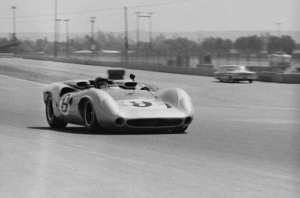 Steve McQueen and his Lola T70 at Riverside Raceway in Riverside, California 1966 © 1978 Chester Maydole - Image 0019_1069