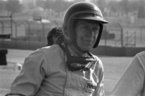 Steve McQueen and his Lola T70 at Riverside Raceway in Riverside, California 1966 © 1978 Chester Maydole - Image 0019_1077
