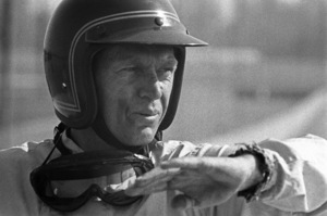 Steve McQueen and his Lola T70 at Riverside Raceway in Riverside, California 1966 © 1978 Chester Maydole - Image 0019_1079