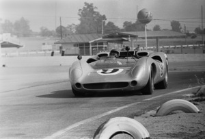 Steve McQueen and his Lola T70 at Riverside Raceway in Riverside, California 1966 © 1978 Chester Maydole - Image 0019_1081