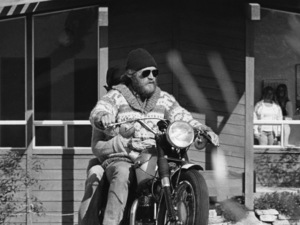 Steve McQueen on his motorcycle with Ali MacGraw in Malibucirca 1970s© 1978 Gary Lewis - Image 0019_1149