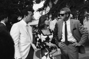 Vic Damone, Natalie Wood and Steve McQueen at a Luci Baines Johnson barbecue1964© 1978 Chester Maydole - Image 0019_1158