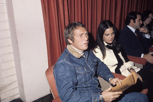 "Steve McQueen and Ali MacGraw at a screening of ""The Getaway""1972© 1978 Gary Lewis - Image 0019_1172"