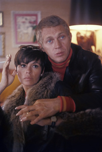Steve McQueen and wife Neile Adams at home 1970 © 1978 Gunther** J.C.C. - Image 0019_1175