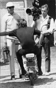 Steve McQueen riding a Honda motor bike at Le Mans 1969** J.C.C. - Image 0019_1176
