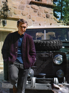 Steve McQueen at home with his Land Rovercirca 1960s - Image 0019_1506