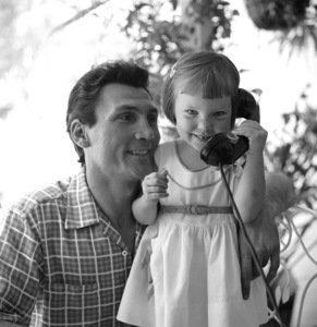 Jack Palance and his daughter, Brooke, at home in Beverly Hills, California1954 © 1978 Sid Avery - Image 0021_0002