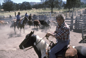 Jack Palance at his ranch near Tehachapi, California1984 © 1984 Gunther - Image 0021_0447
