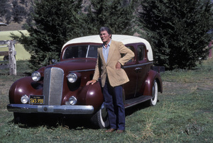 Jack Palance and his 1937 Cadillac1982** H.L. - Image 0021_0452