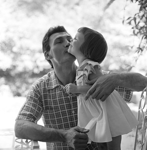 Jack Palance and his daughter, Brooke, at home in Beverly Hills, California1954 © 1978 Sid Avery - Image 0021_0463