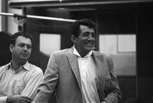 Dean Martin and Nelson Riddle during a 1961 recording session © 1978 Sid Avery - Image 0022_1245