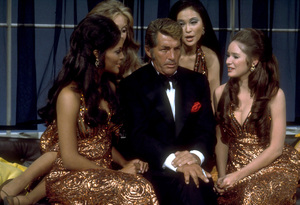 """Dean Martin with the Golddiggers on""""The Dean Martin Show,"""" c. 1970 / NBC. © 1978 Ed Thrasher - Image 0022_1337"""