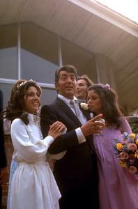 Dean Martin and Deana Martin with, Kiel Martin in Backroud with Claudia Martin left of Dean at Deana