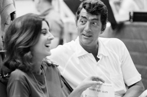 Dean Martin with daughter Deana ata recording sessionAugust 1966 © 1978 Ed Thrasher - Image 0022_1455