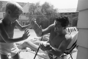 Dean Martin at home with his son Dino1958© 1978 Bob Willoughby - Image 0022_1504