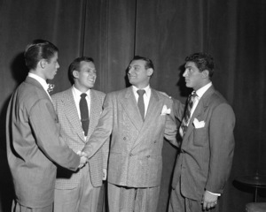 Dean Martin and Jerry Lewis with Frankie Lainecirca 1950© 1978 Barry Kramer - Image 0022_1593