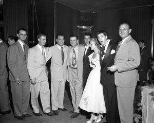 Tony Martin, Dean Martin, Jeanne Martin and Jerry Lewiscirca 1950© 1978 Barry Kramer - Image 0022_1596