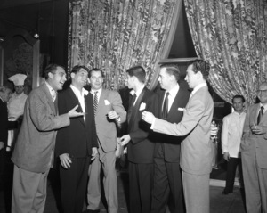 Dean Martin, Milton Berle, Jerry Lewis and Vic Damonecirca 1950© 1978 Barry Kramer - Image 0022_1600