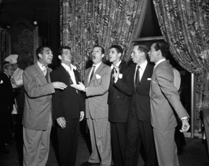 Dean Martin, Milton Berle, Jerry Lewis and Vic Damonecirca 1950© 1978 Barry Kramer - Image 0022_1605