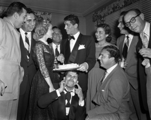 Dean Martin, Jeanne Martin and Jerry Lewis at a birthday party for Deancirca 1950© 1978 Barry Kramer - Image 0022_1611