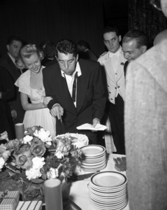 Dean Martin and Jeanne Martin at a birthday party for Deancirca 1950© 1978 Barry Kramer - Image 0022_1613