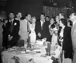 Jerry Lewis, Milton Berle, Tony Martin, Jeanne Martin and Dean Martin at a birthday party for Deancirca 1950© 1978 Barry Kramer - Image 0022_1620