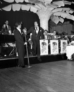 Dean Martin and Jerry Lewis performing at the Copacabana (nightclub) in New Yorkcirca 1950© 1978 Barry Kramer - Image 0022_1628