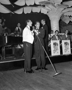 Dean Martin and Jerry Lewis performing at the Copacabana (nightclub) in New Yorkcirca 1950© 1978 Barry Kramer - Image 0022_1629