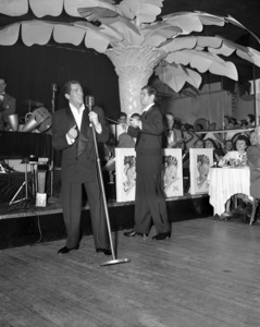 Dean Martin and Jerry Lewis performing at the Copacabana (nightclub) in New Yorkcirca 1950© 1978 Barry Kramer - Image 0022_1630