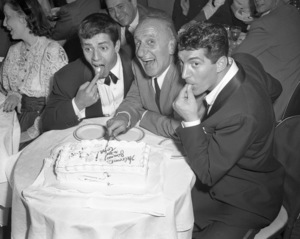Jerry Lewis with Jimmy Durante and Dean Martin at the Copacabana (nightclub) in New Yorkcirca 1950© 1978 Barry Kramer - Image 0022_1641