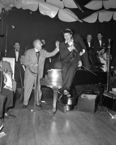 Jerry Lewis with Jimmy Durante and Dean Martin at the Copacabana (nightclub) in New Yorkcirca 1950© 1978 Barry Kramer - Image 0022_1642