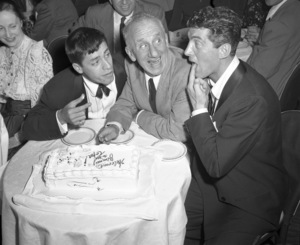 Jerry Lewis with Jimmy Durante and Dean Martin at the Copacabana (nightclub) in New Yorkcirca 1950© 1978 Barry Kramer - Image 0022_1643