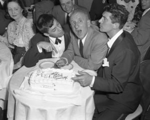 Jerry Lewis with Jimmy Durante and Dean Martin at the Copacabana (nightclub) in New Yorkcirca 1950© 1978 Barry Kramer - Image 0022_1644