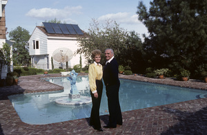 Ernest Borgnine and his wife Tova at their Beverly Hills home1985 © 1985 Gene Trindl - Image 0023_2056
