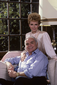 Ernest Borgnine and his wife Tova at their Beverly Hills home1985 © 1985 Gene Trindl - Image 0023_2059