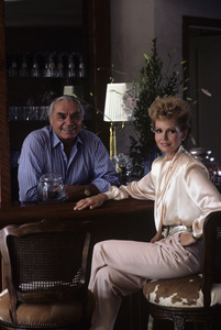 Ernest Borgnine and his wife Tova at their Beverly Hills home1985 © 1985 Gene Trindl - Image 0023_2062