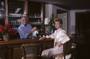 Ernest Borgnine and his wife Tova at their Beverly Hills home1985 © 1985 Gene Trindl - Image 0023_2063