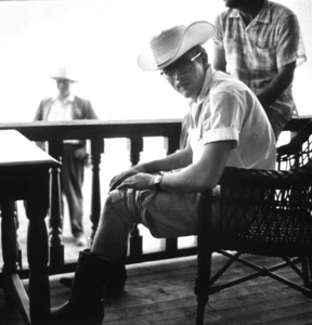 """James Dean on location for """"Giant,"""" in Marfa, Texas, 1955. © 1978 Sid Avery - Image 0024_0008"""