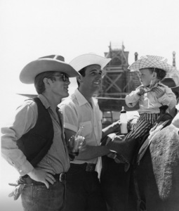 """James Dean and Bob Hinkle on location for """"Giant"""" in Marfa, Texas1955© 1978 Sid Avery - Image 0024_0013"""