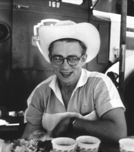 """James Dean on location for """"Giant"""" in Marfa, Texas, 1955. © 1978 Sid Avery - Image 0024_0021"""