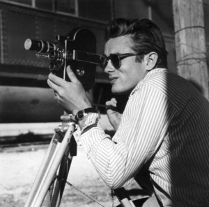 """James Dean on location in Marfa, Texas for the film """"Giant""""1955© 1978 Sid Avery - Image 0024_0025"""