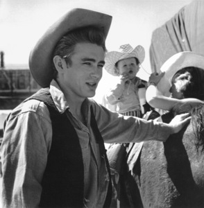 """James Dean on location for """"Giant"""" in Marfa, Texas, 1955. © 1978 Sid Avery - Image 0024_0037"""