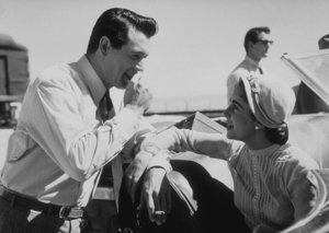 """Elizabeth Taylor and Rock Hudson on the set of """"Giant"""" in Marfa Texas1955 © 1978 Sid AveryMPTV - Image 0024_0060"""
