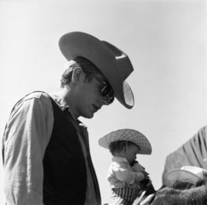 """James Dean on location for """"Giant"""" in Marfa, Texas1955© 1978 Sid Avery - Image 0024_0098"""
