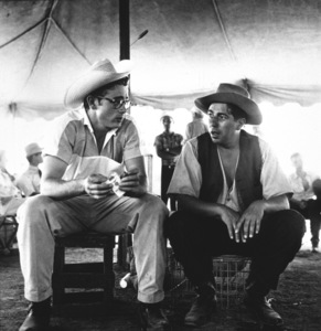 "James Dean and Bob Hinkle on location for ""Giant"" in Marfa, Texas, 1955. © 1978 Sid Avery - Image 0024_0135"