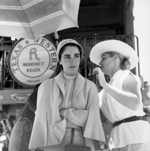 "Elizabeth Taylor on location for ""Giant"" in Marfa, Texas1955© 1978 Sid Avery - Image 0024_0168"