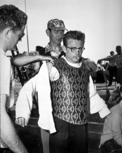 """James Dean wearing a protectivevest for knife scene in """"Rebel Without A Cause.""""1955 Warner / MPTV - Image 0024_0224"""